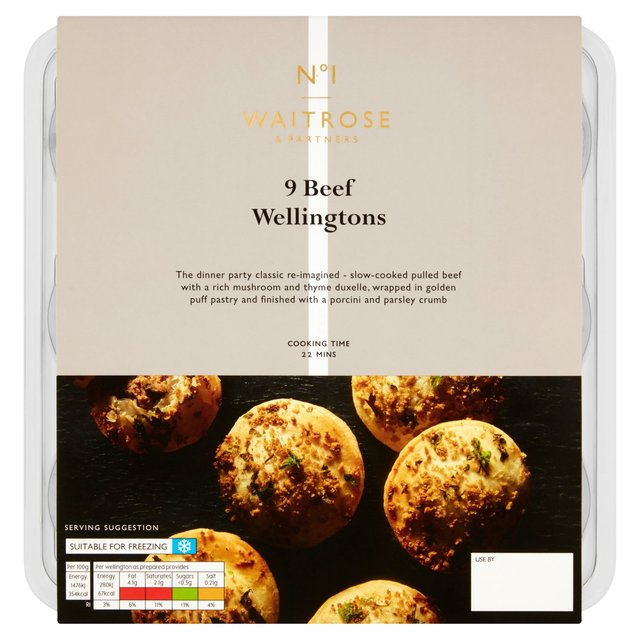 Waitrose 9 Party Food Beef Wellingtons Ocado