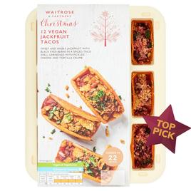 Waitrose 12 Party Food Vegan Jackfruit Tacos Ocado