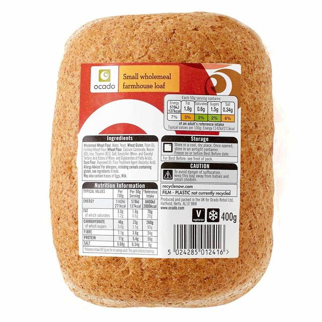 Ocado Small Wholemeal Farmhouse