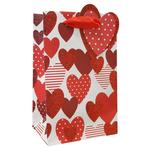 Scattered Hearts Valentine's Small Gift Bag
