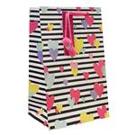 Stripes & Hearts Valentine's Small Gift Bag