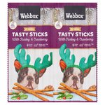 Webbox Festive Dog Sticks Turkey & Cranberry