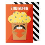 Chat Me Up Stud Muffin Valentine's Greeting Card