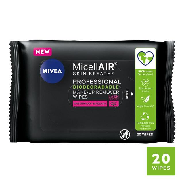 NIVEA MicellAIR Professional Micellar Water Face Wipes
