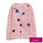 Joules Star Stripe Sequin Long Sleeve T-Shirt