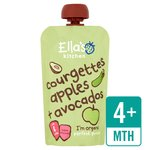 Ella's Kitchen Organic Courgette, Apples & Avocados Pouch 4+ Mths