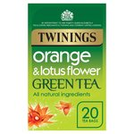 Twinings Orange & Lotus Green Tea Bags