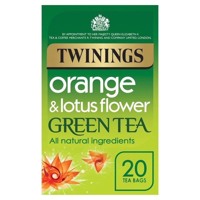 Twinings Orange Lotus Green Tea Bags 20 Per Pack From Ocado