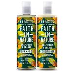Faith in Nature Duo Shampoo & Conditioner, Grapefruit & Orange