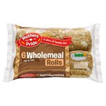 Mothers Pride Wholemeal Rolls