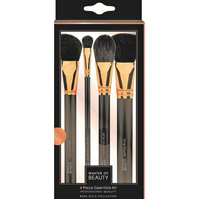 Rose Gold 4 Piece Essentials Brush Set