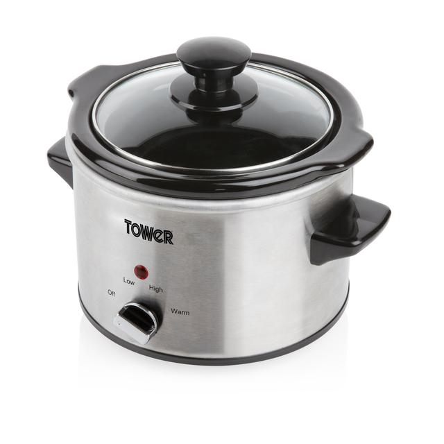 Tower Stainless Steel Slow Cooker 1.5L