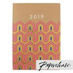 Paperchase A4 Geo Lines 2019 Diary