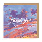 Ohh Deer Thank You Evening Sky Greeting Card