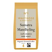 Waitrose 1 Organic Sumatra Mandheling Ground Coffee