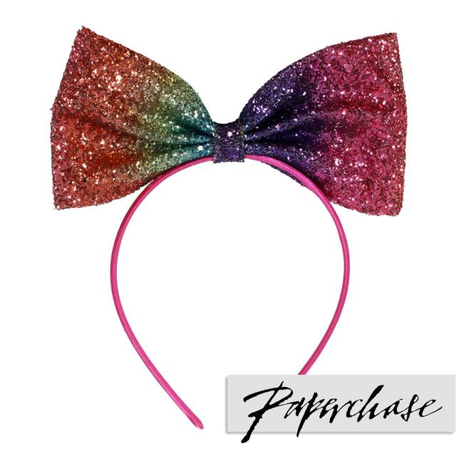 Paperchase Giant Glitter Rainbow Hair Bow