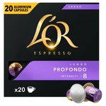 L'OR Espresso Intensity 8 Lungo Nespresso Compatible Coffee Capsules