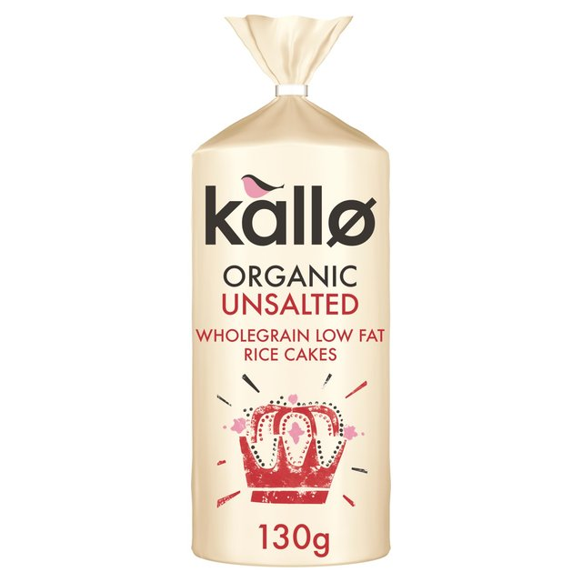 Kallo Fairtrade Organic Unsalted Rice Cakes