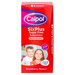 Calpol Sugar Free Paracetamol Strawberry Liquid, 6+yrs