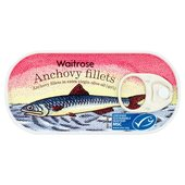 Waitrose Anchovy Fillets In Extra Virgin Olive Oil