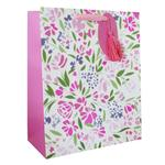 Eurowrap Watercolour Floral Mother's Day Gift Bag, Large