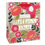 Eurowrap Floral Mother's Day Gift Bag, Medium