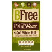 BFree Bake at Home Soft White Rolls 4 pack