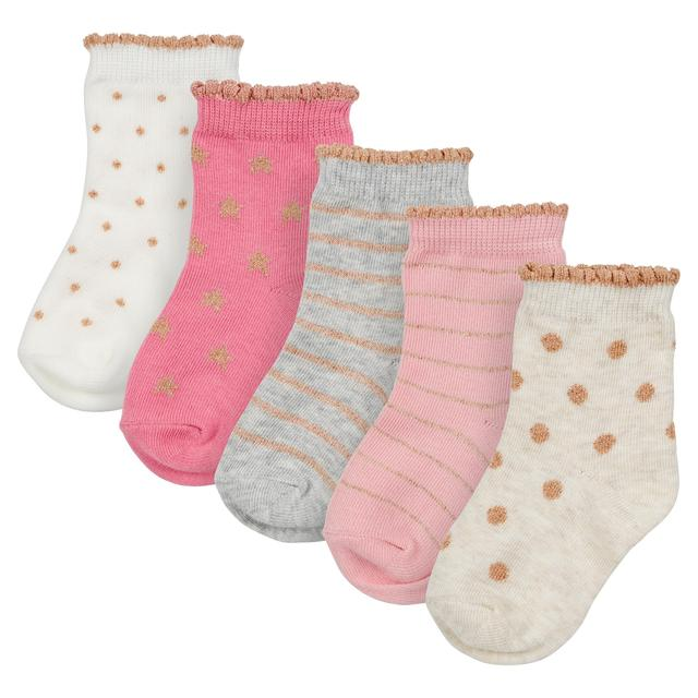 Waitrose Mini Sparkle Stars & Spots Socks