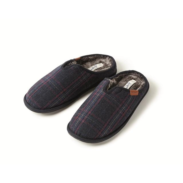 FatFace Men's Checked Mule Slippers
