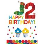 The Hungry Caterpillar 2nd Birthday Greeting Card