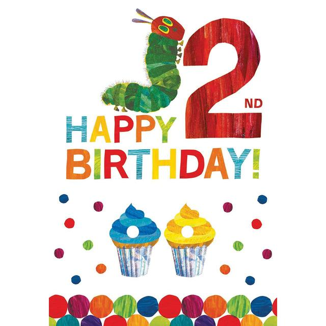 The Hungry Caterpillar 2nd Birthday Greeting Card From Ocado
