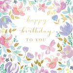 Lottie Floral Scenes Birthday Greeting Card