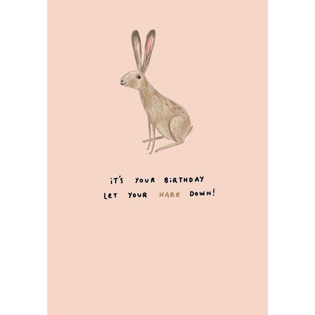 Sophie Corrigan Hare Down Birthday Greeting Card