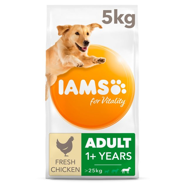 Iams For Vitality Adult Dog Food Large Breed With Fresh Chicken 5kg