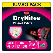 DryNites 4-7 yrs Girls Pyjama Pants Jumbo Pack