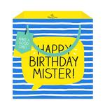 Happy Jackson Mister Blue Neon Gift Bag, Medium