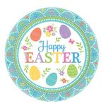 Happy Easter Paper Plates 18cm