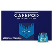 CafePod Nespresso Compatible Coffee Capsules Decaf