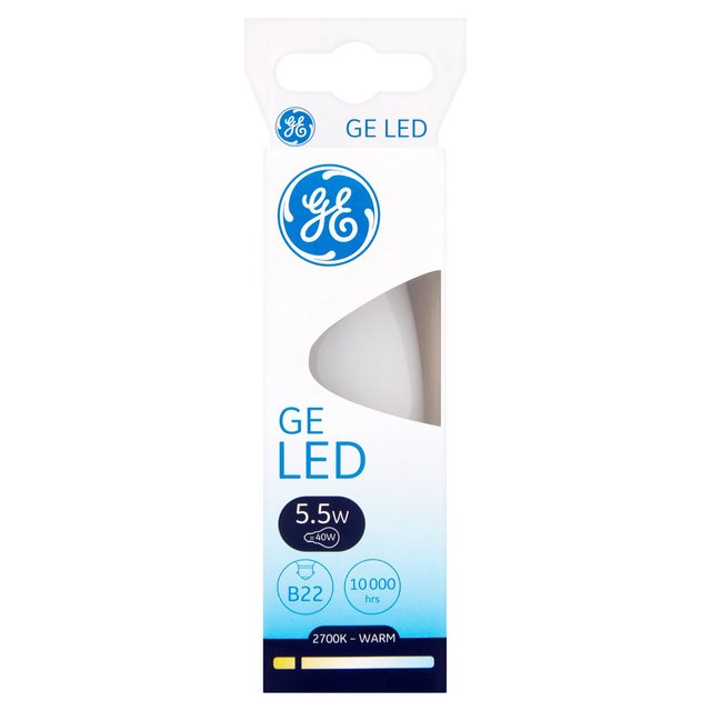 GE Lighting LED Candle 5.5W/40W B22/BC