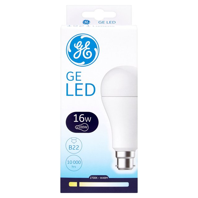 GE Lighting LED GLS 16W/100W B22/BC