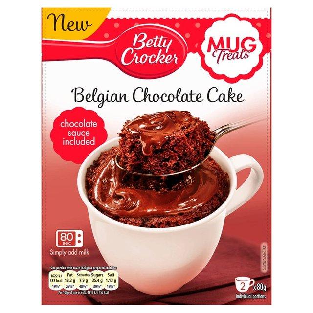 Betty Crocker Mug Treats Belgian Chocolate Cake Mix 2 X 80g From Ocado