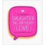 Happy Jackson Daughter Big Birthday Love Birthday Card