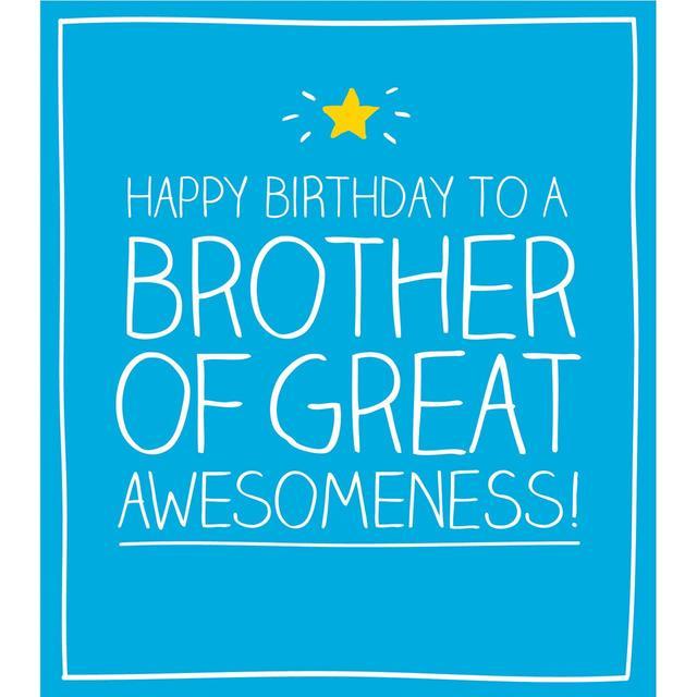 Happy Jackson Happy Birthday Brother Birthday Card From Ocado