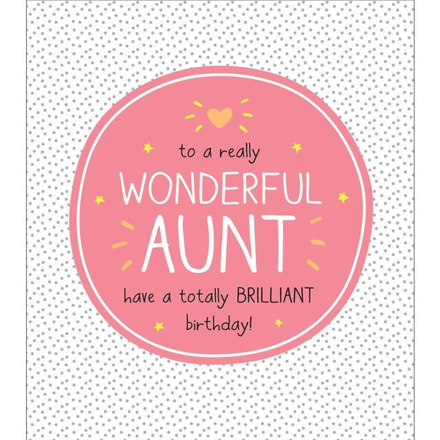 Happy Jackson Wonderful Aunt Brilliant Birthday Card From Ocado