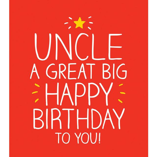Happy Jackson Uncle A Great Big Birthday To You Card From Ocado