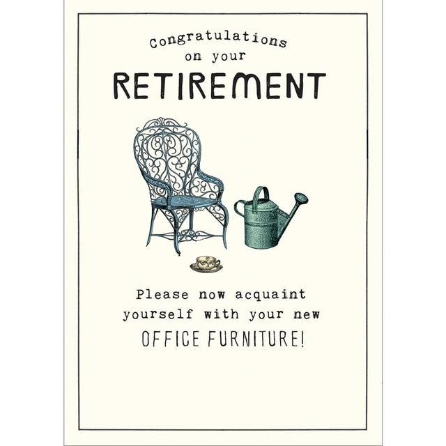 Congratulations On Your Retirement Greeting Card from Ocado