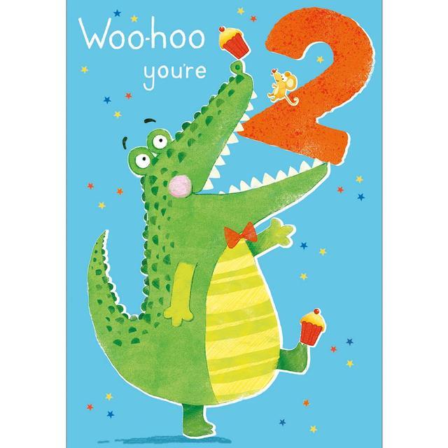 2nd Crocodile Birthday Card From Ocado