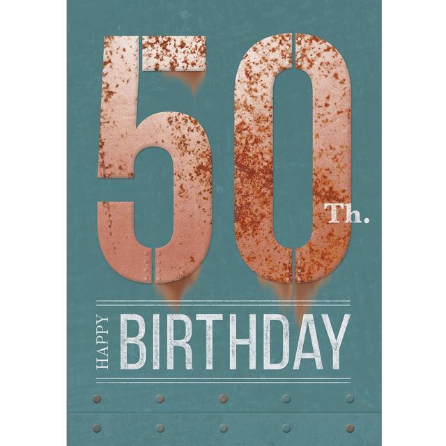 50th Birthday Card From Ocado