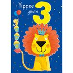 3rd Lion Birthday Card