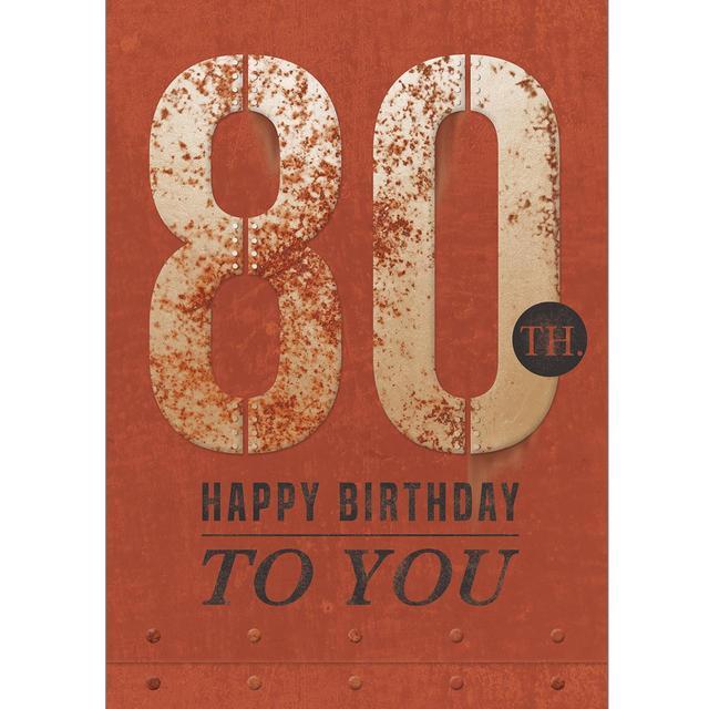 80th Birthday Card From Ocado
